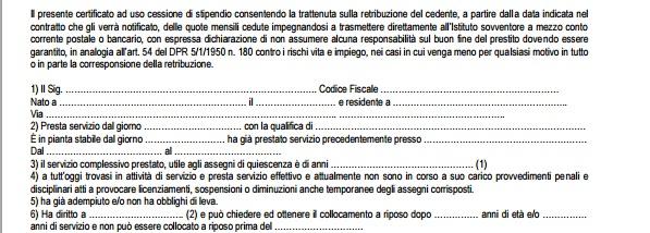 certificato di stipendio dati dipendente