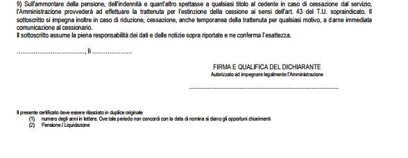 certificato di stipendio dati responsabile compilazione